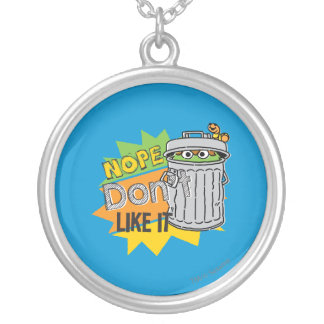 Oscar the Grouch Don't Like Silver Plated Necklace