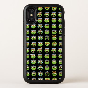 Oscar the Grouch Emoji Pattern OtterBox Symmetry iPhone X Case