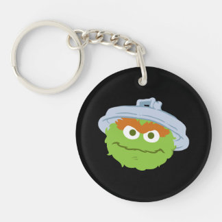 Oscar the Grouch Face Keychain