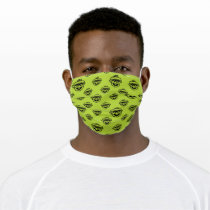Oscar the Grouch Green Pattern Adult Cloth Face Mask