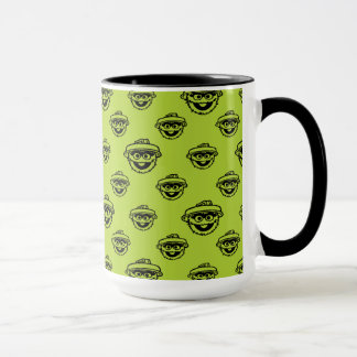 Oscar the Grouch Green Pattern Mug
