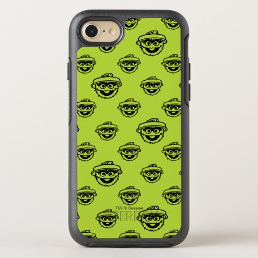 Oscar the Grouch Green Pattern OtterBox Symmetry iPhone SE/8/7 Case