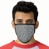Oscar the Grouch | Grey Pattern Face Mask