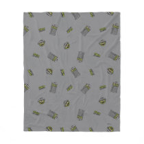 Oscar the Grouch | Grey Pattern Fleece Blanket