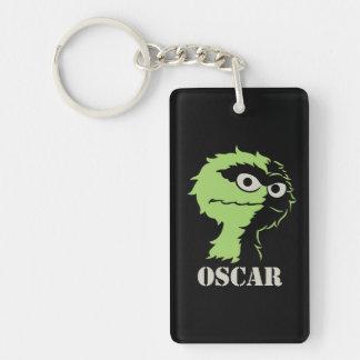 Oscar the Grouch Half Double-Sided Rectangular Acrylic Keychain