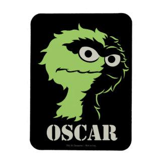 Oscar the Grouch Half Rectangular Photo Magnet