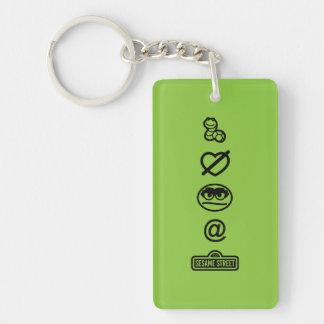 Oscar the Grouch Icons Keychain