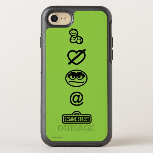 Oscar the Grouch Icons OtterBox Symmetry iPhone SE/8/7 Case