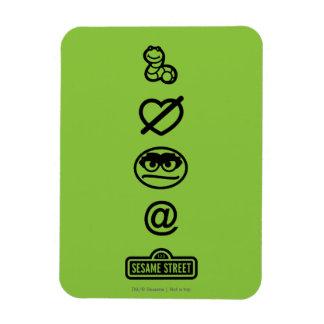Oscar the Grouch Icons Flexible Magnet