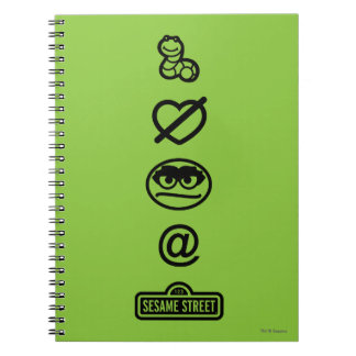 Oscar the Grouch Icons Spiral Notebook