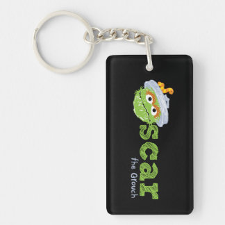 Oscar the Grouch Name Keychain