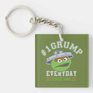 Oscar the Grouch Number 1 Keychain