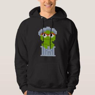 Oscar the Grouch Pixel Art Hoodie