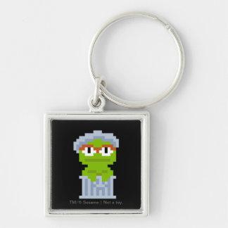 Oscar the Grouch Pixel Art Keychain
