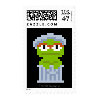 Oscar the Grouch Pixel Art Postage