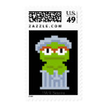 Oscar the Grouch Pixel Art Stamps