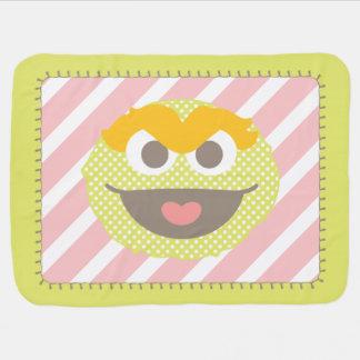 Oscar the Grouch Polka Dot Big Face Stroller Blanket