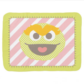 Oscar the Grouch Polka Dot Big Face Swaddle Blanket