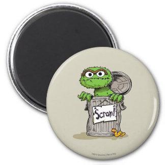 Oscar the Grouch Scram 2 Inch Round Magnet