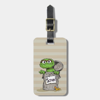 Oscar the Grouch Scram Bag Tag