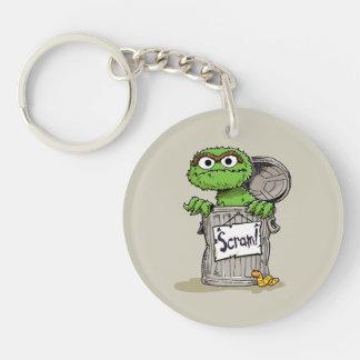 Oscar the Grouch Scram Keychain