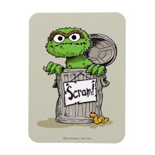 Oscar The Grouch Scram Magnet