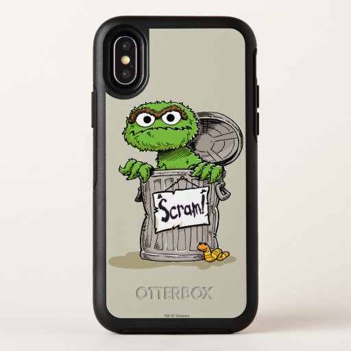 Oscar the Grouch Scram OtterBox Symmetry iPhone X Case