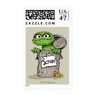 Oscar the Grouch Scram Postage