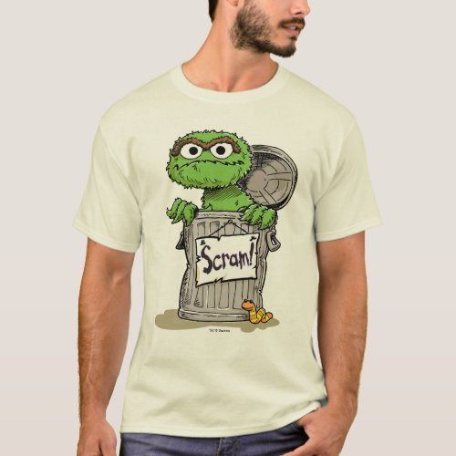 Oscar the Grouch Scram T_Shirt