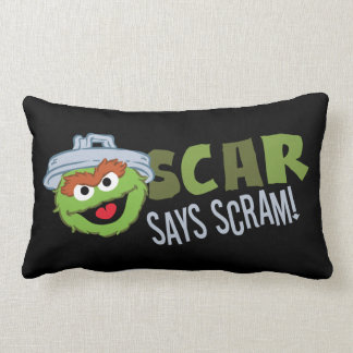 Oscar the Grouch Scram Throw Pillow