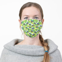 Oscar the Grouch | Tropical Pattern Adult Cloth Face Mask