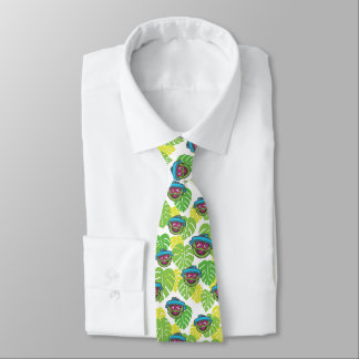 Oscar the Grouch | Tropical Pattern Neck Tie