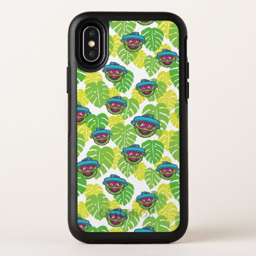 Oscar the Grouch | Tropical Pattern OtterBox Symmetry iPhone X Case