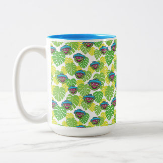 Oscar the Grouch | Tropical Pattern Two-Tone Coffee Mug