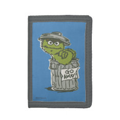 Oscar The Grouch Vintage 2 Trifold Wallets at Zazzle