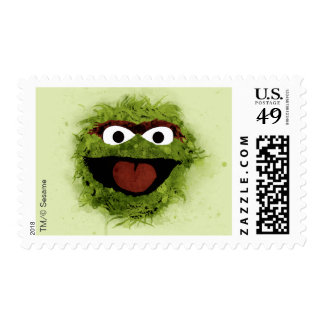 Oscar the Grouch | Watercolor Trend 2 Postage