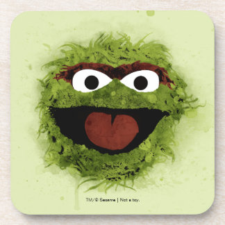 Oscar the Grouch | Watercolor Trend Beverage Coaster