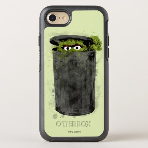 Oscar the Grouch | Watercolor Trend OtterBox Symmetry iPhone SE/8/7 Case