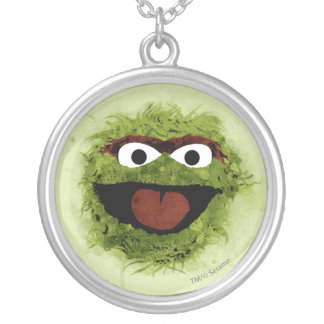 Oscar the Grouch | Watercolor Trend Silver Plated Necklace