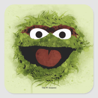 Oscar the Grouch   Watercolor Trend Square Sticker