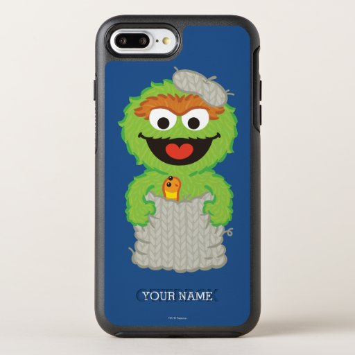 Oscar the Grouch Wool Style | Add Your Name OtterBox Symmetry iPhone 8 Plus/7 Plus Case