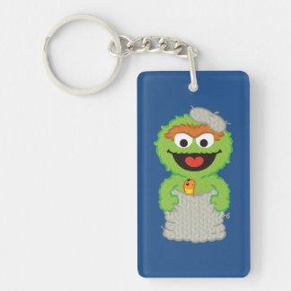 Oscar the Grouch Wool Style Keychain