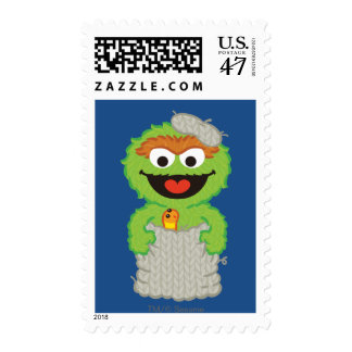 Oscar the Grouch Wool Style Postage