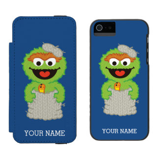 Oscar the Grouch Wool Style Incipio Watson™ iPhone 5 Wallet Case