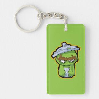 Oscar the Grouch Zombie Keychain