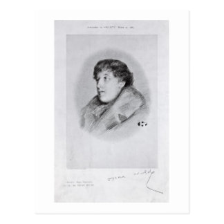 Oscar Wilde (1854-1900) a Bijou Portrait, from 'So Postcard