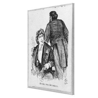 Oscar Wilde (1854-1900) entre la audiencia (engrav Impresion En Lona