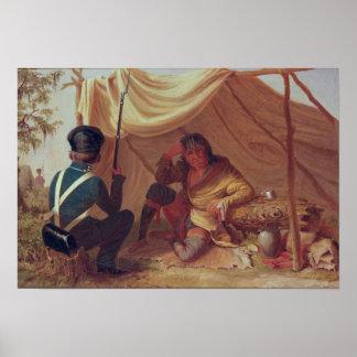 Osceola in Captivity, c.1837 Poster