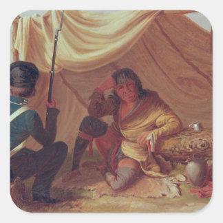 Osceola in Captivity, c.1837 Square Sticker