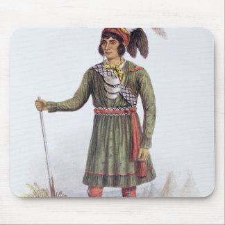 """Osceola o """"sol naciente"""", un líder del Seminole Alfombrillas De Ratón"""
